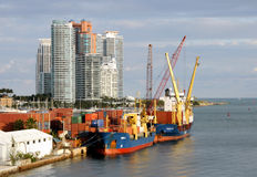 Port of Miami activity Royalty Free Stock Photo