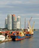 Port of Miami cargo operations Stock Image