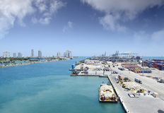 Port of Miami Stock Image