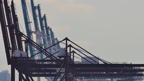 Port of Miami cranes stock video footage