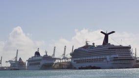 Port Miami cruise ships 4k stock footage