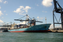 Port of Miami operations Stock Photo