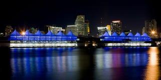 Port of Miami Skyline Stock Photography