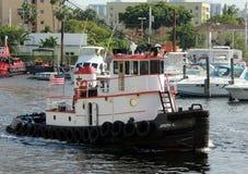 Port of Miami Tugboat Stock Photo