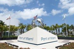 Port Miami znak Zdjęcia Stock