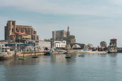 Port miasto Castro Urdiales Fotografia Stock