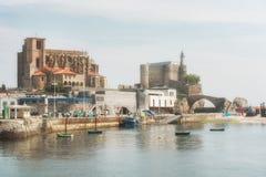 Port miasto Castro Urdiales Zdjęcia Royalty Free