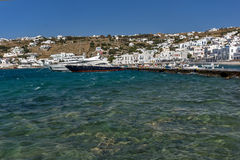 Port of Mikonos Town, island of Mykonos, Cyclades Islands Royalty Free Stock Image