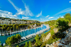 Port Miou during a sunny day, Cassis, France Stock Photography