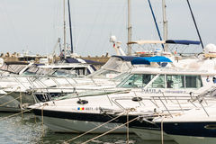 Port Of Modern Yachts And Boats Stock Images
