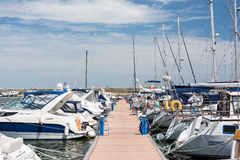 Port Of Modern Yachts And Boats Royalty Free Stock Image