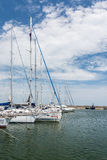 Port Of Modern Yachts And Boats Stock Photos