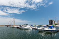 Port Of Modern Yachts And Boats Stock Photo