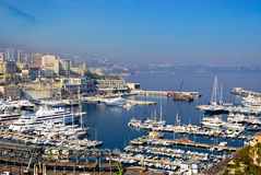 Port of Monaco. While making the road for the formula one racing Stock Photos