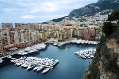 Port at monaco royalty free stock images