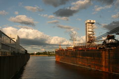 Port in Montreal stock image