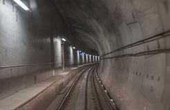 Port Moody Skytrain subway tunnel royalty free stock photos