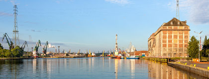 Port at morning Stock Photography