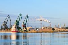 Port at morning Royalty Free Stock Photo