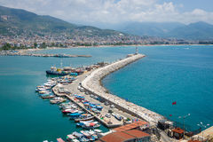Port morski Alanya Obraz Stock
