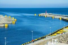 Port morski Kolobrzeg, Polska Obraz Royalty Free