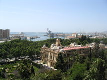 port morski malaga Hiszpanii Zdjęcie Stock
