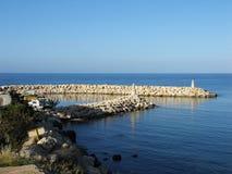 port morski neverending mały Zdjęcie Royalty Free