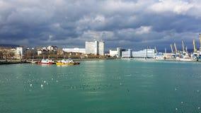 Port morski Novorossiysk Rosja Lato Obrazy Stock