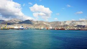 Port morski Novorossiysk Rosja Sammer Obrazy Royalty Free