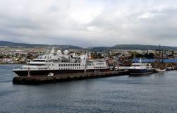 Port morski Punta Arenas w Chile Zdjęcie Royalty Free