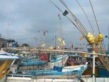 Port morski Sri Lanka z małymi statkami Obrazy Stock