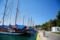 port morski w Bodrum, Turcja, na morzu egejskim Zdjęcia Royalty Free