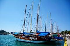 port morski w Bodrum, Turcja, na morzu egejskim Zdjęcie Royalty Free