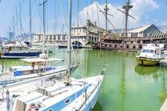 Port morski w Genova, Włochy Zdjęcia Royalty Free