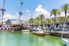 Port morski w Genova, Włochy Fotografia Royalty Free