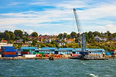 Port of Moss. Cable storage in port of Moss, Norway Royalty Free Stock Image