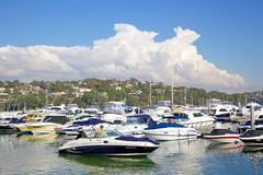 Port moyen, Sydney Images stock