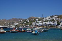 Port of Mykonos, Greece Stock Photo