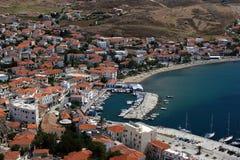 Port in Myrina Stock Image