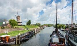 Port néerlandais des bateaux historiques Image stock