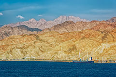 Port na Czerwonego morza skalistym wybrzeżu Zdjęcie Stock
