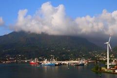 Port na tropikalnej wyspie mahe Seychelles Victoria Obraz Royalty Free