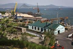 Port in Nakhodka. Primorsky Krai. Russia Stock Photography