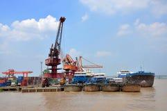 Port of Nanjing, China Royalty Free Stock Images