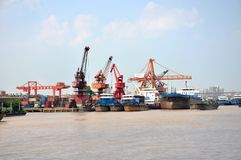 Port of Nanjing, China Stock Image
