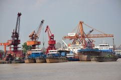 Port of Nanjing, China Royalty Free Stock Images