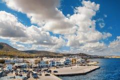Port of Naoussa on Paros island Stock Photo