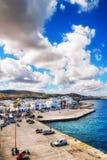 Port of Naoussa on Paros island Stock Photos