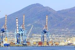 Port of Naples with Crane Royalty Free Stock Photo