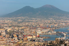 Port of Naples in the early evening Stock Photography